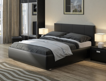 Черная кровать Como 3