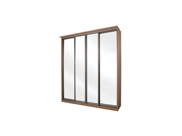 Шкаф-купе Элит 4-х дверный зеркальный
